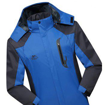 2017 Men Causal Sports Water Proof Softshell - BLUE 3XL