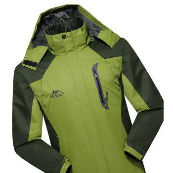 2017 Hommes Causal Sports Water Proof Softshell - Herbe Verte 4XL