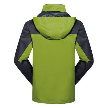 2017 Men Causal Sports Water Proof Softshell - GRASS GREEN 4XL