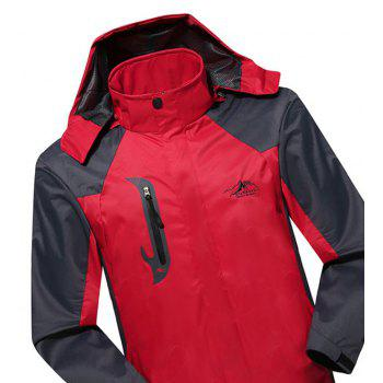 2017 Men Causal Sports Water Proof Softshell - RED XL