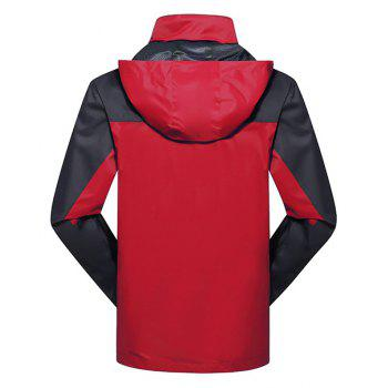 2017 Men Causal Sports Water Proof Softshell - RED 3XL