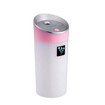 Small O Mini USB Car Humidifier Aromatherapy Negative Ion Air Purifying Mute - PINK PINK