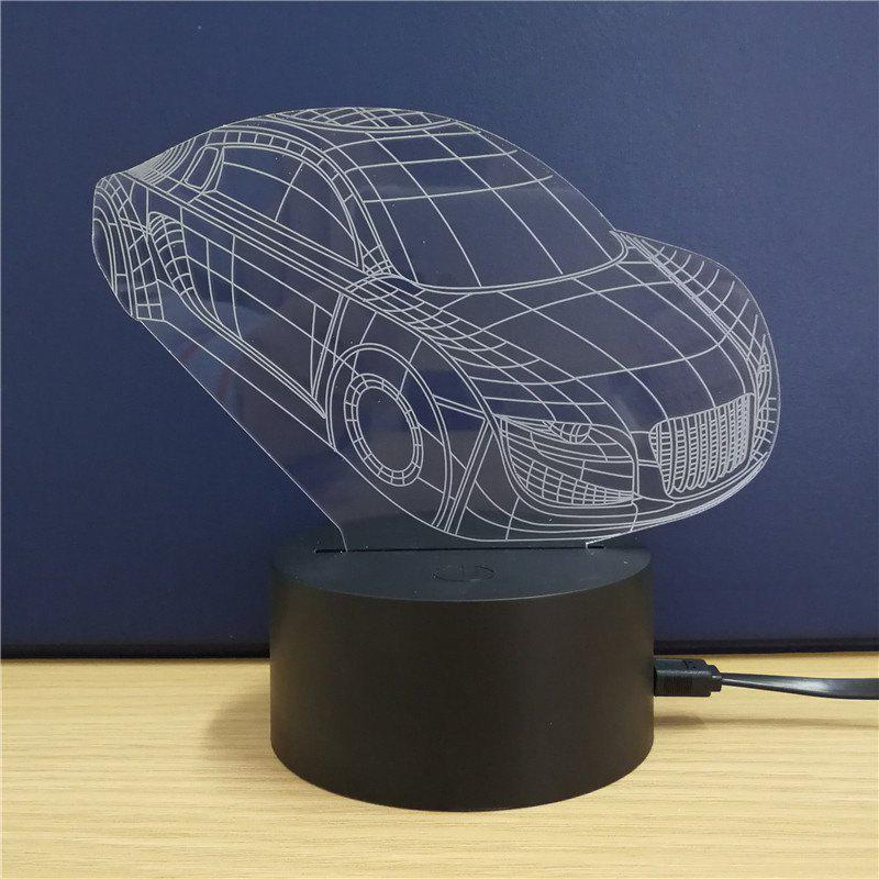 Sports Car  Gift  Advertising Promotion LED Touches The Color-Changing 3D Lamp USB Creative Nightlight christmas gift advertising promotion led touches the color changing 3d lamp usb creative nightlight santa claus