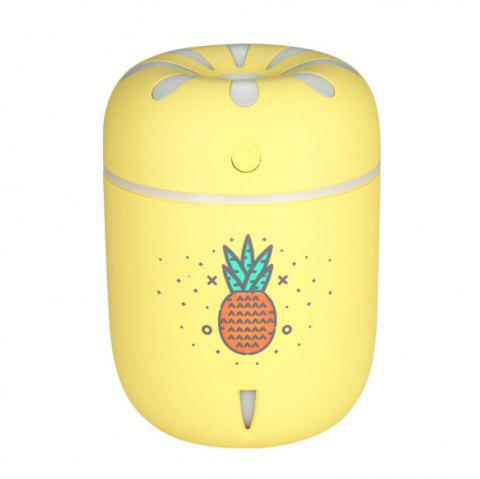 Mini USB Chrysanthemum Humidifier Office Bedroom Colorful Light Mute - YELLOW