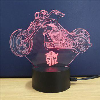 Harley Davidson Motorcycle  Gift Advertising Promotion LED Touches The Color-Changing 3D Lamp USB Creative Nightlight - RGB 21 X 15 X 8.7 CM