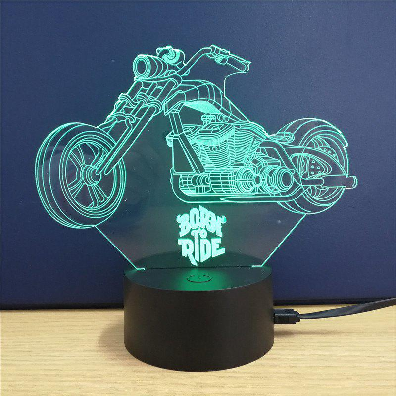 Harley Davidson Motorcycle Gift Advertising Promotion LED Touches The Color-Changing 3D Lamp USB Creative Nightlight 3d nightlight creative novelty gift to send to friends birthday cat animation desk lamp bedside lamp