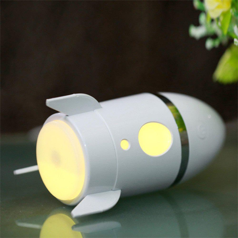 Mini USB Rocket Humidifier Office Car Bedroom Seven Colour Change Mute - WHITE