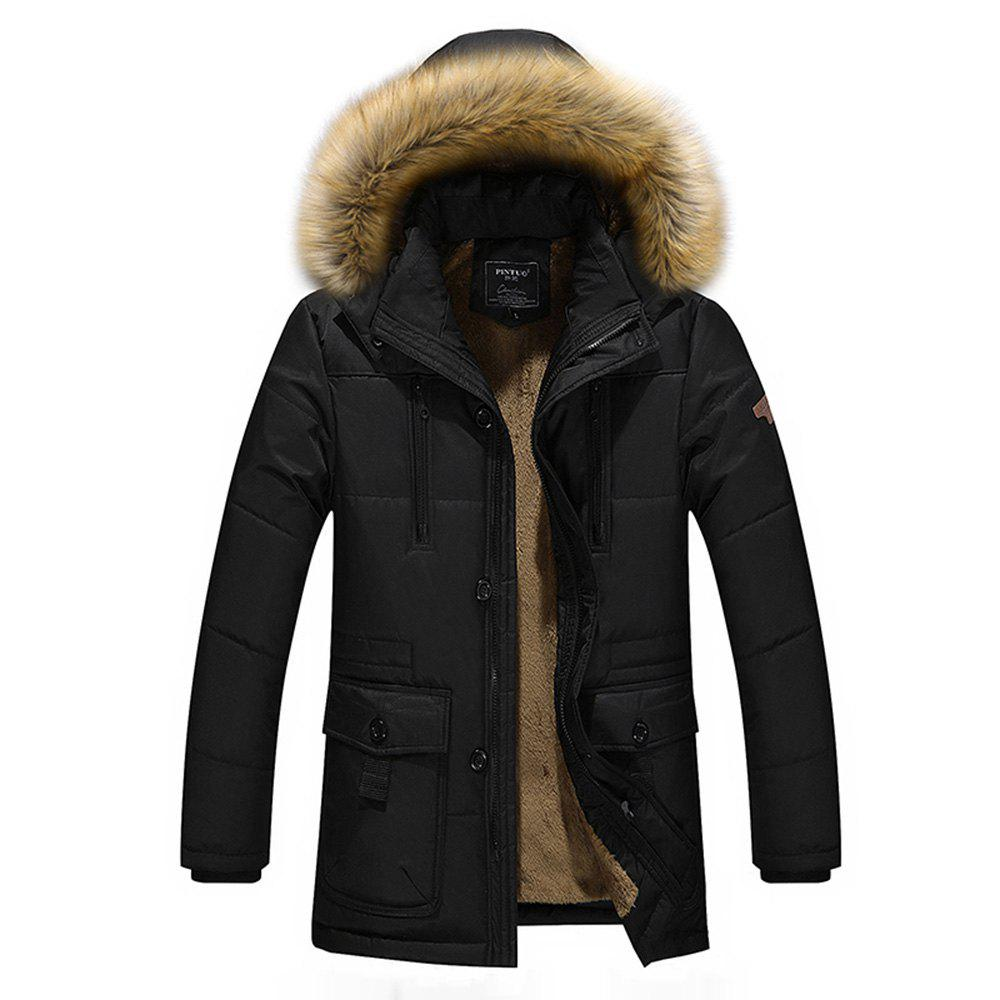 Winter New Men'S Fashion Jacket Cotton Padded Warm Large Size Corduroy Thick Overcoat camkemsey warm corduroy winter coat women fur collar hooded jacket women casual pockets thicken cotton padded parkas overcoat