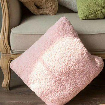 Multi-Functional Ultra Soft Lambs Wool Blanket Pillow Cushion for Leaning On - PINK 110CM X 160CM