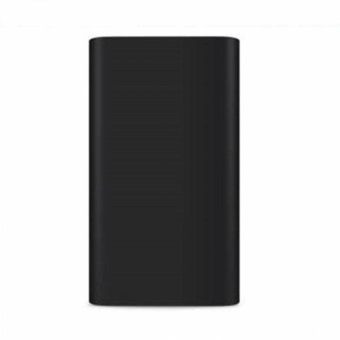 Silicone Gel Rubber Case For 10000mAh Xiaomi Cover Power Bank 2 Cover - BLACK