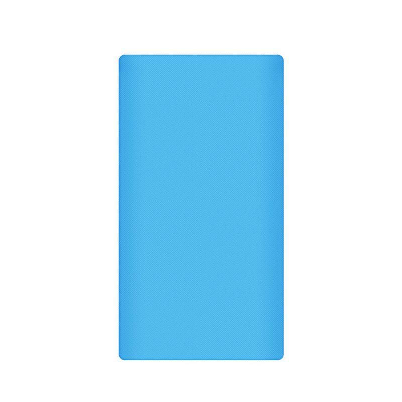 Silicone Gel Rubber Case For 10000mAh Xiaomi Cover Power Bank 2 Cover - BLUE