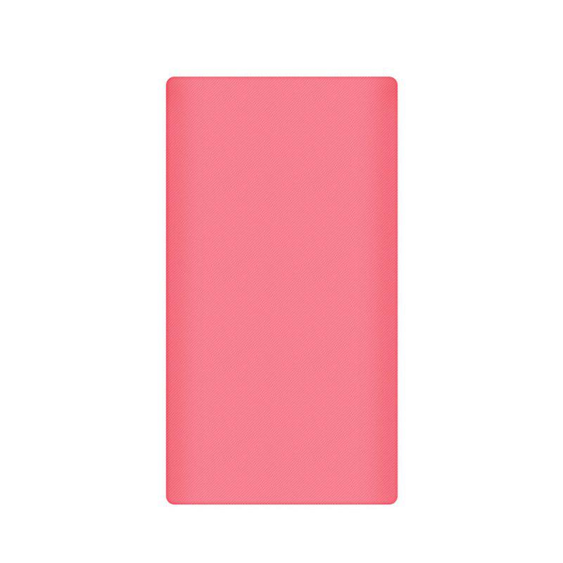 Silicone Gel Rubber Case For 10000mAh Xiaomi Cover Power Bank 2 Cover - PINK