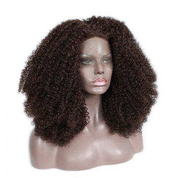 Front Lace Chemical Fiber Wig, Wig Head, Chemical Fiber AC - 1 Brown - BROWN BROWN