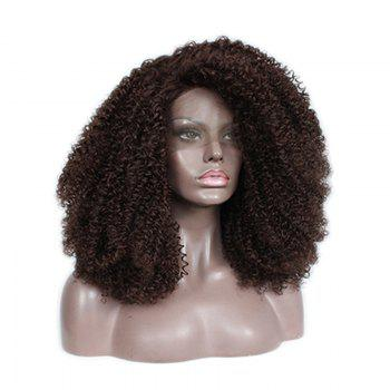 Front Lace Chemical Fiber Wig, Wig Head, Chemical Fiber AC - 1 Brown - BROWN 24INCH