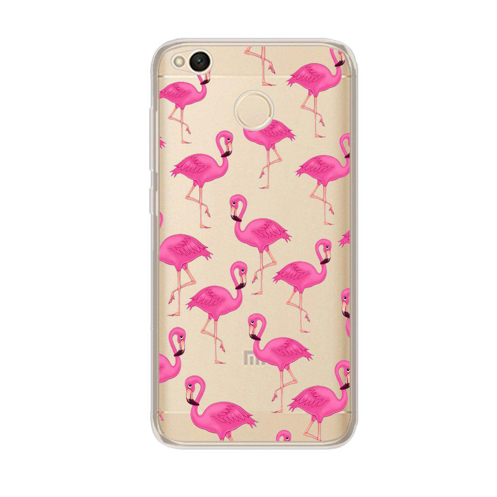 Color Pattern Soft TPU Back Phone Case for Xiaomi Redmi 4X - PINK