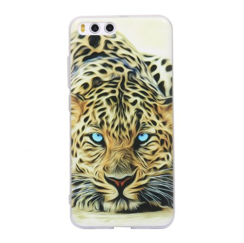 Color Pattern Soft TPU Back Phone Case for Xiaomi 6 - YELLOW/BLACK