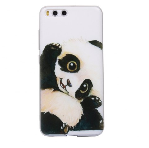 Color Pattern Soft TPU Back Phone Case for Xiaomi 6 - BLACK WHITE