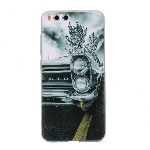Color Pattern Soft TPU Back Phone Case for Xiaomi 6 - GRAY