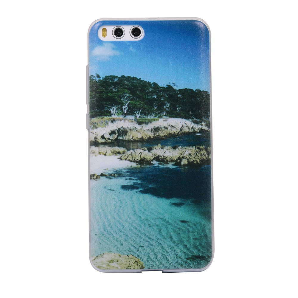 Color Pattern Soft TPU Back Phone Case for Xiaomi 6 - BLUE/GREEN