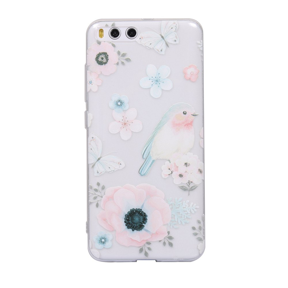 Color Pattern Soft TPU Back Phone Case for Xiaomi 6 - WHITE/PINK/BLUE