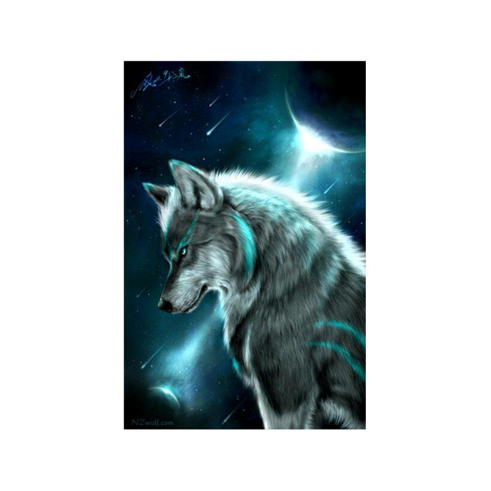 цена Nocturnal Wolf Prints Diamond Paintings