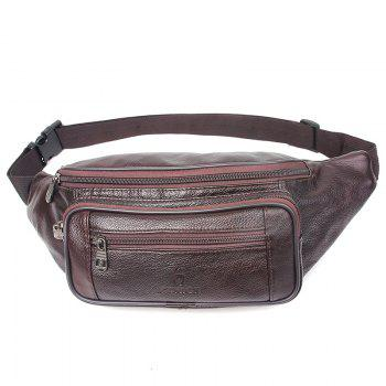 Genuine Leather Bag Men Waist Bag Men