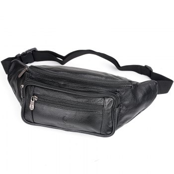 Genuine Leather Bag Men Waist Bag Men's Multifunction Travel Bags Chest Pack Men Waist Pack