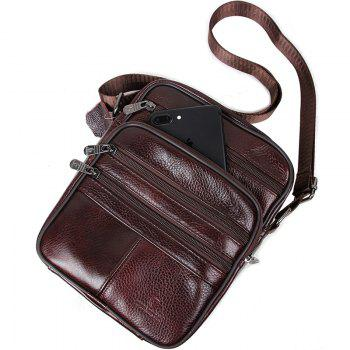 Genuine Leather Bags Messenger Bag Men Leather Handbags Elunico Fashion Casual Business Leather Mens Handbag -  DEEP BROWN