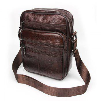 Genuine Leather Bags Messenger Bag Men Leather Handbags Elunico Fashion Casual Business Leather Mens Handbag - DEEP BROWN DEEP BROWN