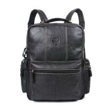 Unisex Genuine Leather Laptop Backpack Women School