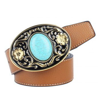 The western cowboy belt of turquoise stone - YELLOW YELLOW
