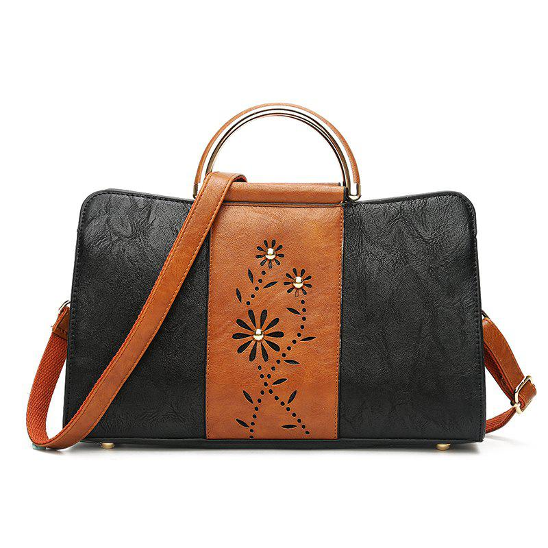 New Hollow Out Bump Color Single Shoulder His Laptop Bags Pack - BROWN