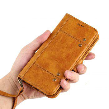 LCIMEEKE Solid Color Stitching Style 2 in 1 Detachable Magnetic Wallet Case for Samsung Galaxy S8 Plus - YELLOW