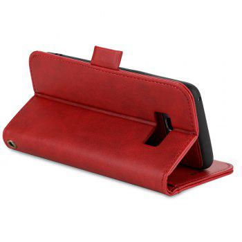 LCIMEEKE Solid Color Stitching Style 2 in 1 Detachable Magnetic Wallet Case for Samsung Galaxy S8 Plus -  RED