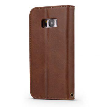 LCIMEEKE Solid Color Stitching Style 2 in 1 Detachable Magnetic Wallet Case for Samsung Galaxy S8 Plus -  BROWN