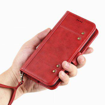 LCIMEEKE Solid Color Stitching Style 2 in 1 Detachable Magnetic Wallet Case for Samsung Galaxy S7 Edge - RED