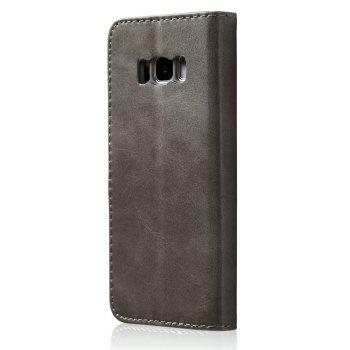 LCIMEEKE Solid Color Horizontal Flip Stand Wallet Case for Samsung Galaxy S8 Plus - GRAY