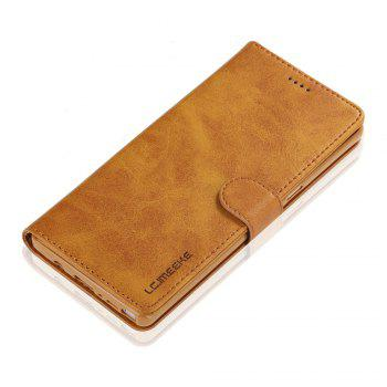 LCIMEEKE Solid Color Horizontal Flip Stand Wallet Case for Samsung Galaxy Note 8 - YELLOW