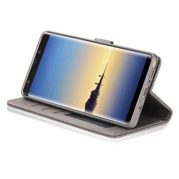 LCIMEEKE Solid Color Horizontal Flip Stand Wallet Case for Samsung Galaxy Note 8 -  GRAY