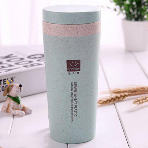 DIHE Wheat Straw Double Deck Vacuum Cup Cover Band Environmental Protection - GREEN