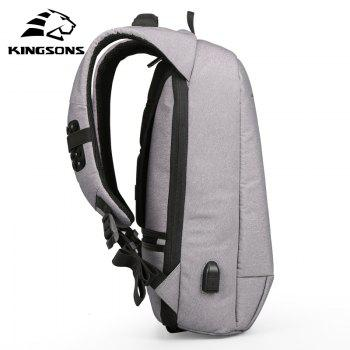 Backpack Kim Sung Si External USB Interface Charging Phone Sucker Laptop Shoulder Bag - GRAY 15