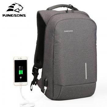 Backpack Kim Sung Si External USB Interface Charging Phone Sucker Laptop Shoulder Bag - BLACK 15