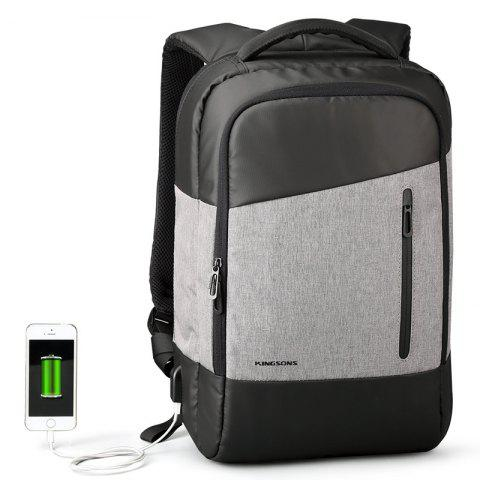 Usb Charging Interface Phone Sucker Notebook Shoulder Backpack Computer Bag - BLACK/GREY