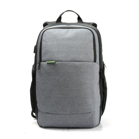 Men and Women Backpack Rechargeable Waterproof Laptop Bag Shoulders Anti-Theft - GRAY