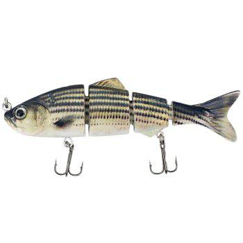 4 Section ABS Material Swimbait Hard Multi-Jointed Fishing Lure Bait for Bass Trout Fishing