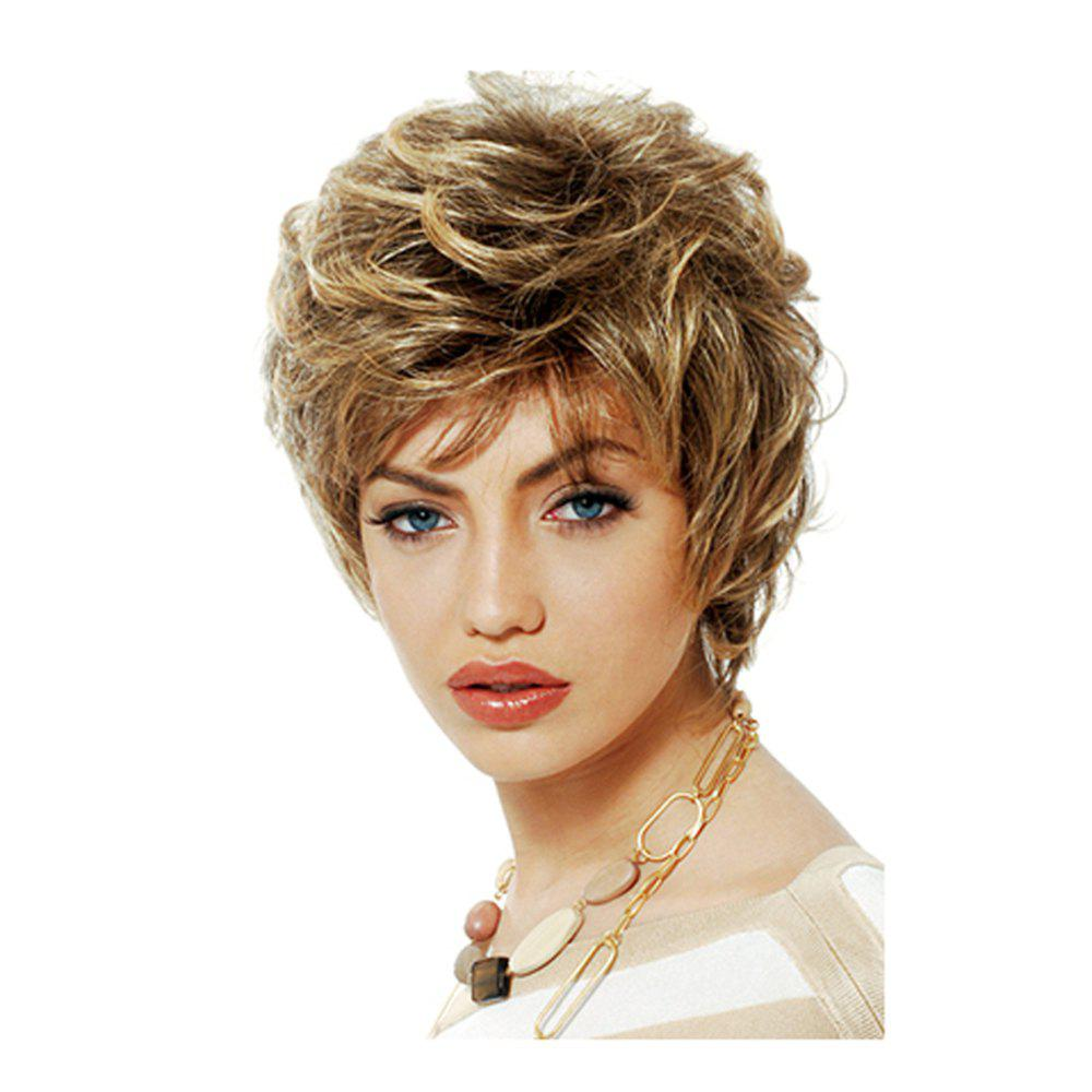 Women's Short Wigs Curly Layered Hair Wig For Women short blonde wigs women cheap synthetic wigs for black women african american short bob hair wigs blonde short cosplay wig