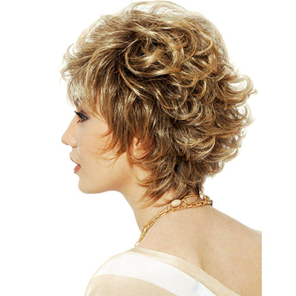 Women's Short Wigs Curly Layered Hair Wig For Women - COLORMIX