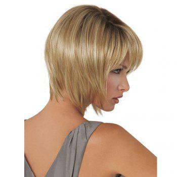 Women's Short Wig Straight Hair Wigs For Women - GOLD BROWN