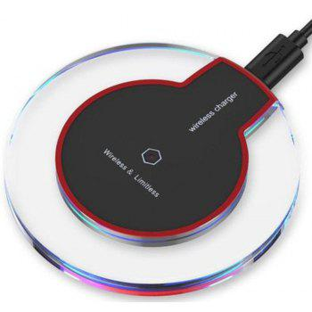 Fast Wireless Qi Wireless Charger Pad for iPhone 8 / 8 Plus / X / Samsung Galaxy Note 8 / S8 - BLACK CHARGER