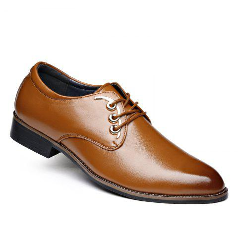 Men Casual High Quality Comfort Business Footwear Shoes - YELLOW 42